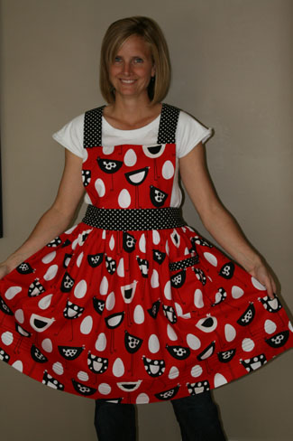 favorite apron red and black